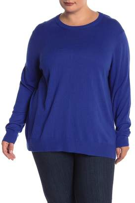 Joe Fresh Cashmere Blend Crew Neck Sweater (Plus Size)