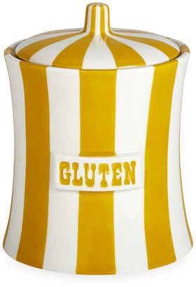 Jonathan Adler Vice Canister - Gluten - Mustard/White