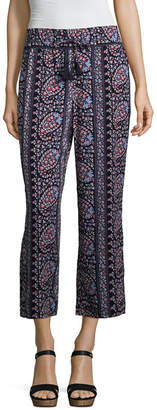 Liz Claiborne Wide Leg Printed Cropped Pants