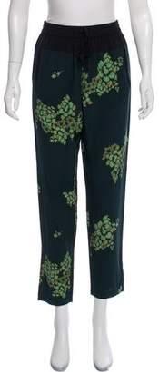 A.L.C. High-Rise Floral Silk Pants