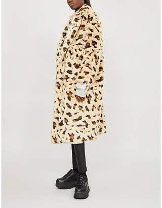 Junya Watanabe Faux-fur leopard print coat