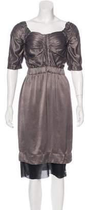 Marc Jacobs Satin Midi Dress