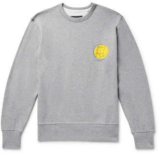 Rag & Bone Printed Mélange Loopback Cotton-Jersey Sweatshirt