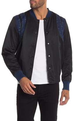Diesel Denim Trim Bomber Jacket