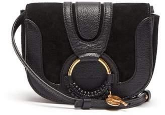 See by Chloe Hana Mini Suede And Leather Cross Body Bag - Womens - Black