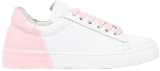 Am 66 Rubber Heel Two Tone Leather Sneakers
