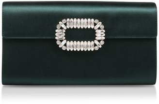 Roger Vivier Satin Envelope Clutch Bag