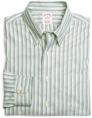 Brooks Brothers Supima Cotton Non-Iron Regular Fit Tonal Stripe Twill Sport Shirt