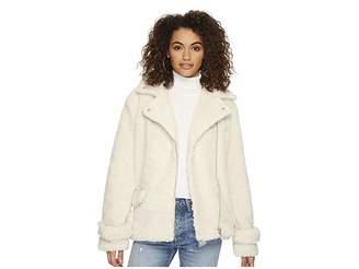 J.o.a. Faux Shearling Rider Jacket Women's Coat