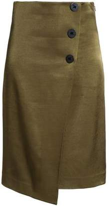 By Malene Birger Asymmetric Satin Midi Skirt