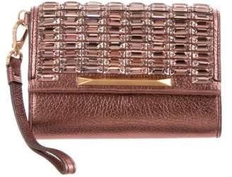 Brian Atwood Metallic Embellished Wristlet w/ Tags