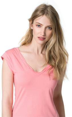 Le Château Women's Effortless V-Neck Tee,M
