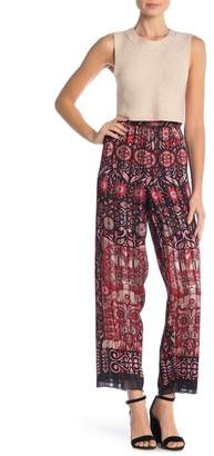 Anna Sui Satin Floral Pattern Pants
