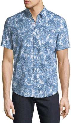 Original Penguin Men's Floral Short-Sleeve Sport Shirt