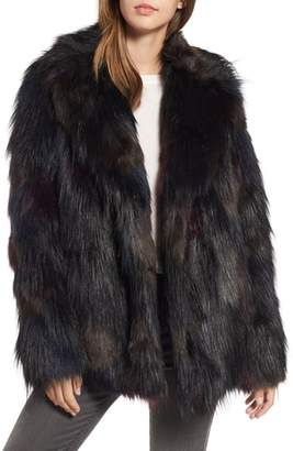 Rachel Roy Multicolored Faux Fur Jacket
