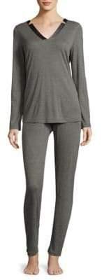 Hanro Ivy Long-Sleeve Pajamas