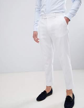 Asos Design DESIGN tapered smart pants in white