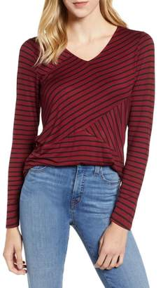 Gibson Cross Front Stripes Top