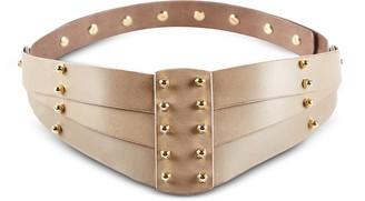 Una Burke Taupe Back Detail Belt