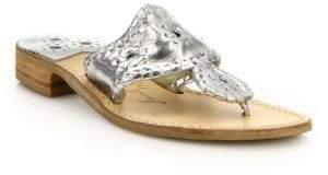 Jack Rogers Hamptons Metallic Leather Sandals