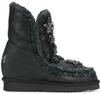 Mou star embellished boots