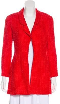 Chanel Tweed Jacket Red Tweed Jacket