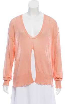 Alexander Wang Oversize Slit-Front Sweater