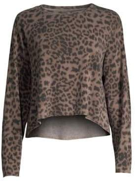 Sundry Leopard Print Pullover