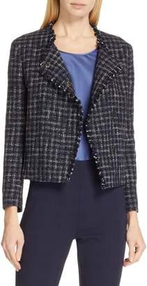 BOSS Jicara Crop Tweed Jacket