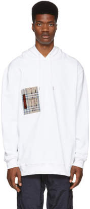 Burberry White Checker Pocket Hoodie
