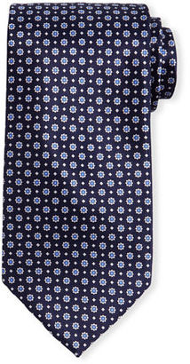 Stefano Ricci Neat Floral-Dot Patterned Silk Tie $250 thestylecure.com