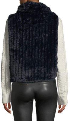 P. Luca Faux-Fur Pullover Vest