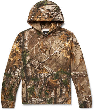 Stussy + Realtree Camouflage-Print Fleece-Back Cotton-Blend Jersey Hoodie
