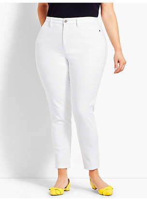 Talbots Plus Size Exclusive Comfort Stretch Denim Jeggings - Curvy Fit/White