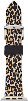 Kate Spade Women's Leopard Silicone Apple Watch Strap