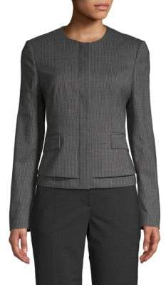 HUGO BOSS Jasyma Fantasy Wool-Blend Blazer