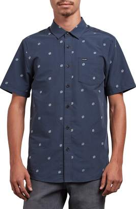 Volcom Frequency Dot Short Sleeve Woven Shirt