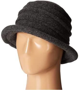 Scala Packable Wool Felt Cloche Caps