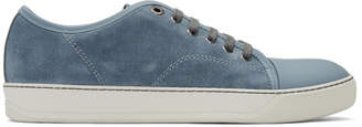 Lanvin Blue Suede Tennis Sneakers