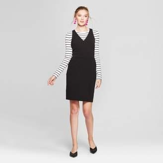 A New Day Women's Sleeveless Scuba Shift Dress Black