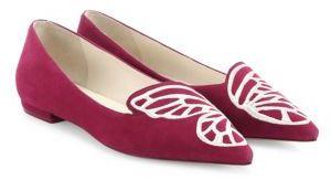 Sophia Webster Bibi Butterfly-Embroidered Suede Flats $350 thestylecure.com