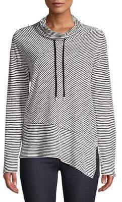 Jones New York Asymmetrical Striped Sweater