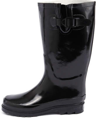 New Gumboots Glossy Black Glossy Black Womens Shoes Comfort Boots Calf