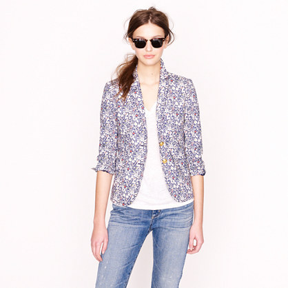 J.Crew Liberty classic schoolboy blazer in June's Meadow floral