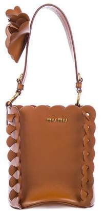 Miu Miu 2017 Floral-Embellished Bucket Bag w/ Tags
