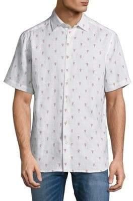 Saks Fifth Avenue Graphic Linen Button-Down Shirt