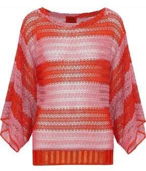 Missoni Draped Metallic Crochet-Knit Top
