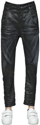Fayza Coated Cotton Denim Jeans $314 thestylecure.com