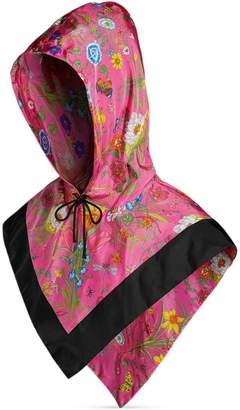 Gucci Nylon hood with Flora print