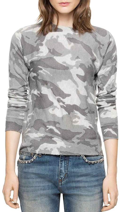 Zadig & Voltaire Crisp Camou Cashmere Sweater